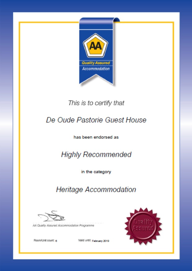 AA Quality Assured heritage accommodation